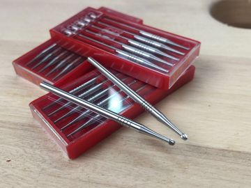 Fissure Finishing Diamond Burs Dental , Carbide Burr Bits Tungsten Material